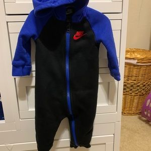 Nike boys hoodie overall one piece suit 9 months